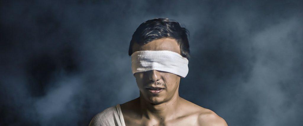 Blind en toch kan ik zien